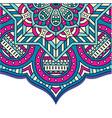 vintage mandala pink blue background image vector image vector image