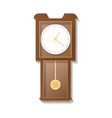 vintage wooden pendulum clock icon vector image