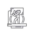 virtual reality game line icon concept virtual vector image vector image