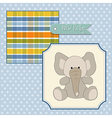 welcome baby card with elephant vector image vector image