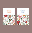 winter christmas greeting card template botanical vector image vector image
