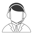 male person with headset icon vector image