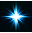 Light flare blue effect vector image