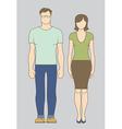 Caucasian Couple vector image