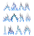fire pattern set vector image