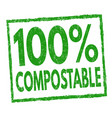 100 compostable sign or stamp vector image vector image