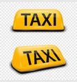 3d realistic yellow french taxi sign icon vector image vector image