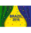 Abstract banner curtain color of brazil flag vector image vector image