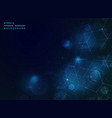 abstract blue technology geometric background vector image