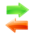 arrows icons vector image vector image