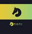 beauty horse elegant horse and beauty logo design vector image