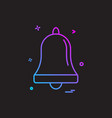 bell alarm ring icon design vector image vector image