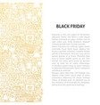 black friday line pattern concept vector image vector image