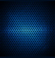 blue dotted metal background design vector image vector image