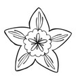 botany flower icon simple style vector image