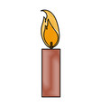 burning candle flame light icon vector image vector image