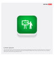 business report icon green web button vector image