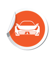 car ORANGE LABEL vector image vector image