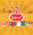 carnival festival cartoons vector image