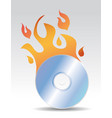 cd burning vector image vector image