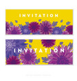 chrysanthemum flower card template design vector image vector image