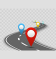 colorful navigation concept vector image