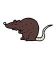 comic cartoon black rat vector image vector image