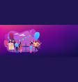 corporate party concept banner header vector image vector image
