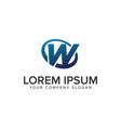 creative modern letter w logo design concept vector image vector image