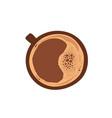 cup hot fresh espresso or american mug vector image vector image