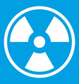 danger nuclear icon white vector image vector image