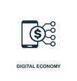 digital economy icon creative element design from vector image vector image