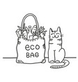 eco bag black graphic with eco bag vector image vector image