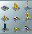 egypt color gradient isometric icons vector image vector image