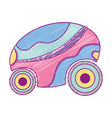 futuristic car with modern elements design vector image vector image