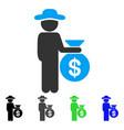 Gentleman investor flat icon