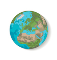 Globe planet earth vector image