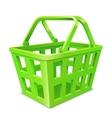 Green Shopping Basket vector image vector image