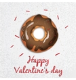 Greeting card Valentines Day Series with sweets vector image vector image