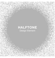 Halftone Dots Frame on Gray Silver Background vector image
