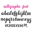 Hand drawn brush pen calligraphy cursive font vector image vector image