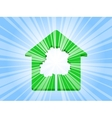 house tree ray vector image vector image