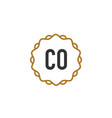 initial letter co elegance creative logo vector image vector image
