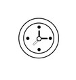 line wall clock to know hours time vector image vector image