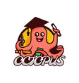 logo octopus simple mascot style vector image