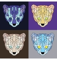 Low poly lined ocelots set vector image vector image