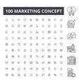 marketing concept line icons signs set vector image vector image
