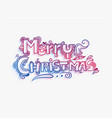 merry christmas doodle lettering decorative text vector image
