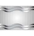 Minimal abstract technology wavy metallic vector image vector image