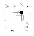 motion graphics black and white elements vector image vector image